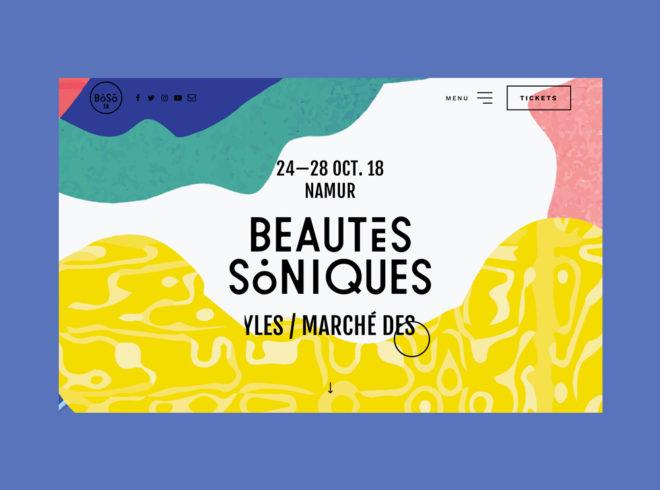 beautés soniques website édition 2018